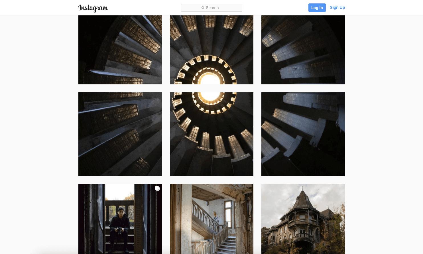 César partage ses photographies d'exploration urbaine sur son compte Instagram cesardassonville (© César Dassonville / Capture d'écran)