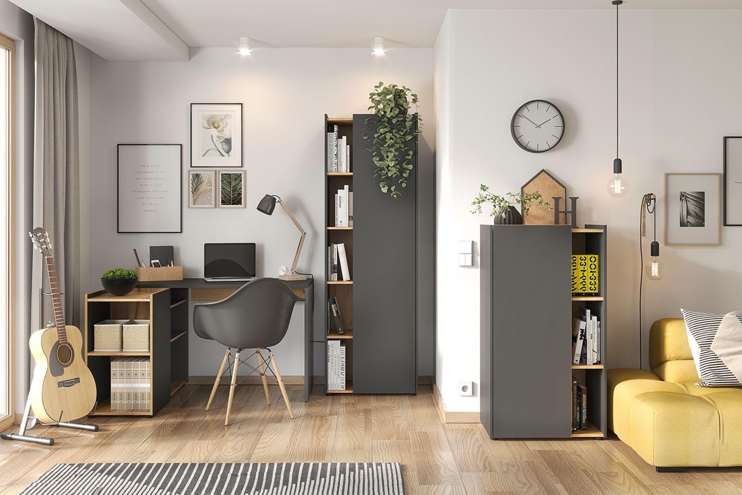 Clever integriertes Home-Office auf wenig Platz