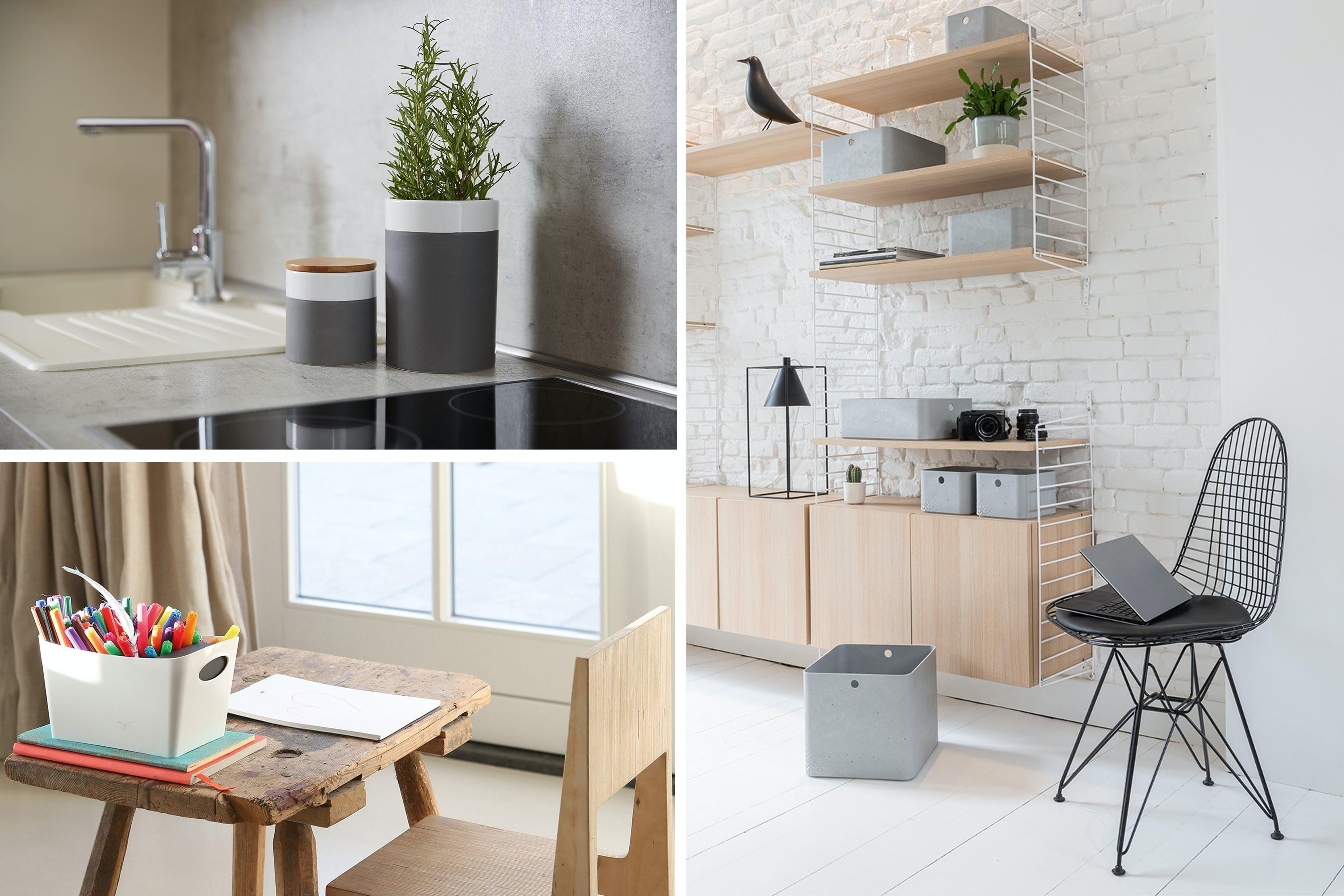 Aufgeräumte Küche, Arbeitszimmer und Kinderzimmer, um dein Zuhause in vollen Zügen zu genießen