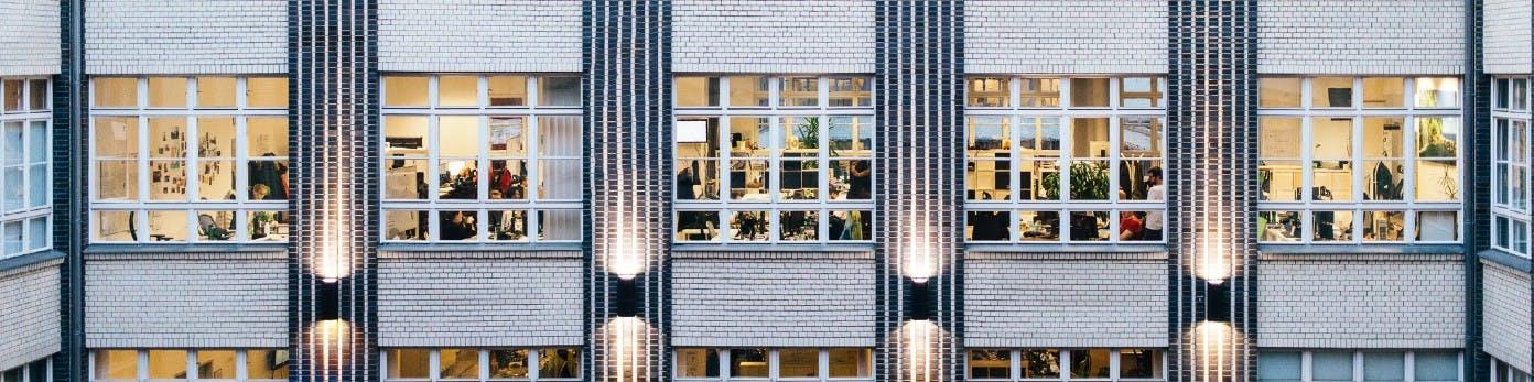 Fassade des Büros von home24 in Berlin
