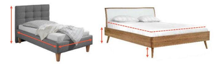 Einzelbett und doppelbett - Bettenmasse beratung - home24