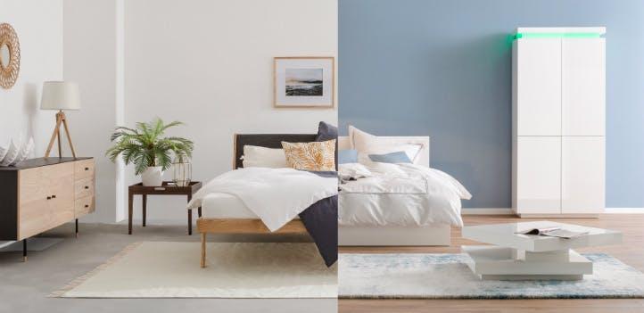 Skandi-Stil vs Moderner Stil - Schlafzimmer-Wohnideen bei home24