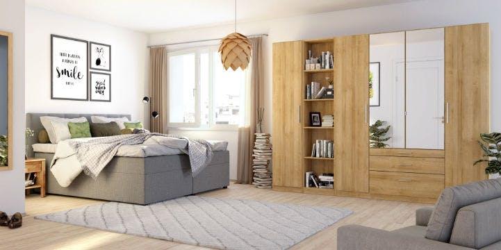 Kiydoo Schlafzimmermöbel: Bett und Kleiderschrank bei home24