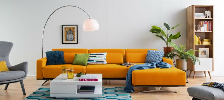 Ecksofa orange modern bei home24