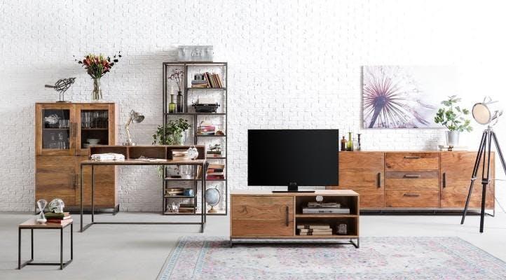 Schränke, Regale und halboffene Schränke aus Holz und Metall für das Wohnzimmer von home24