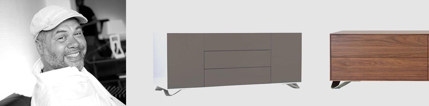 Portrait von Tobias Jacobsen sowie seine puristisch minimalistischen Möbel Designs