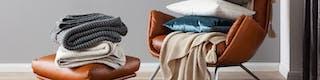 Textilien wie Kissen, Decken oder Teppiche