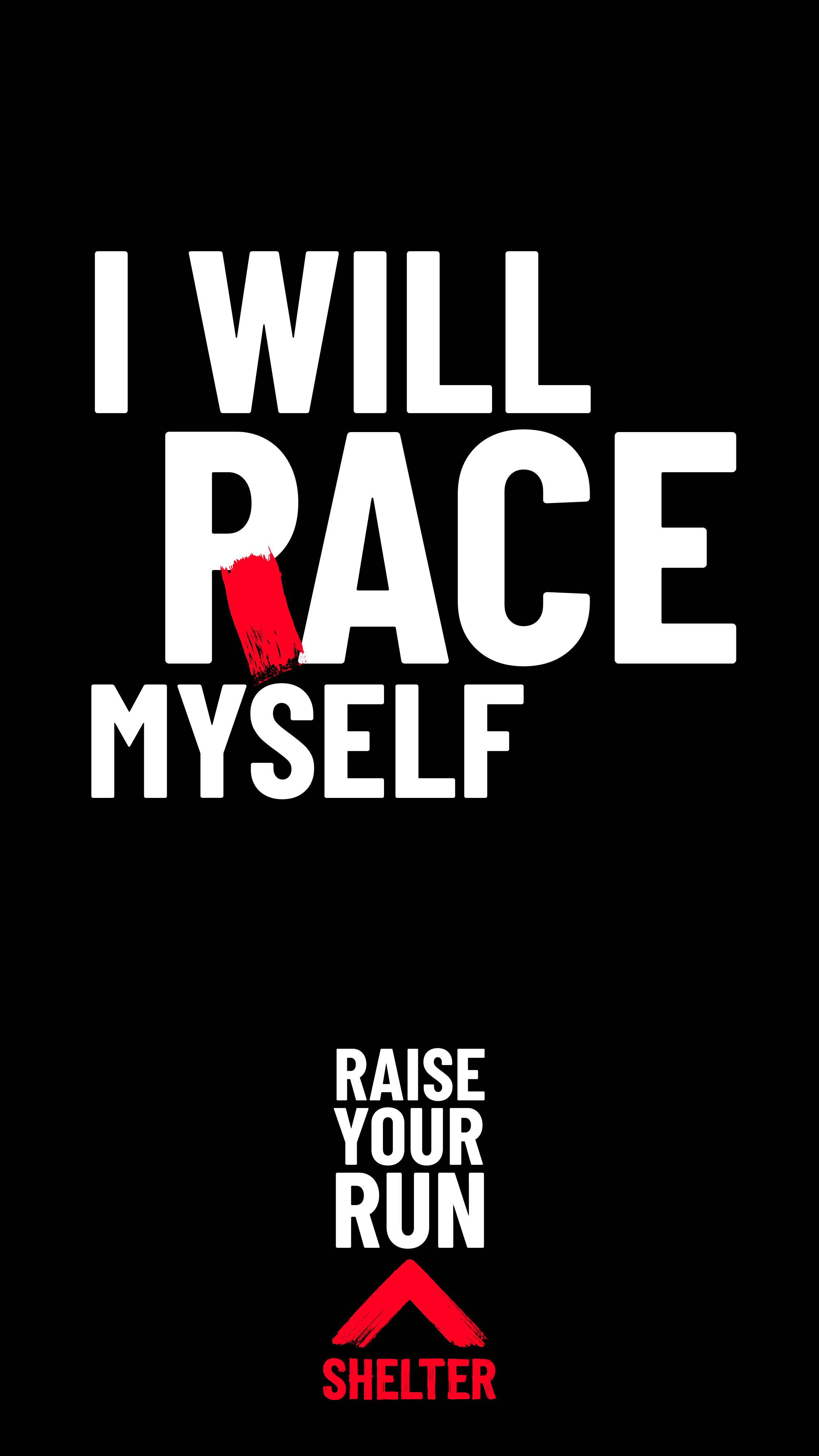 'I will pace myself' wods on black background