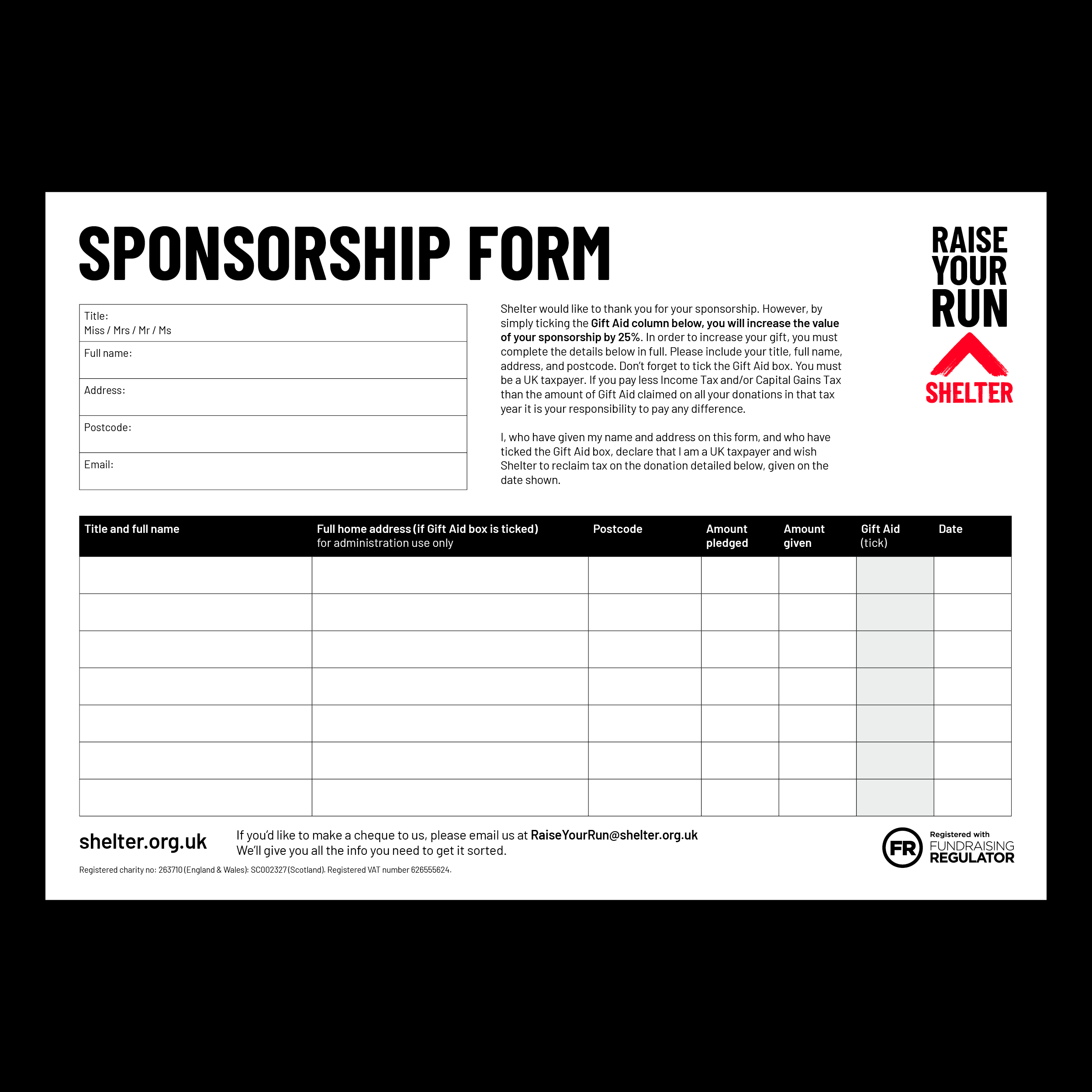 Preview image of the sponsorship form