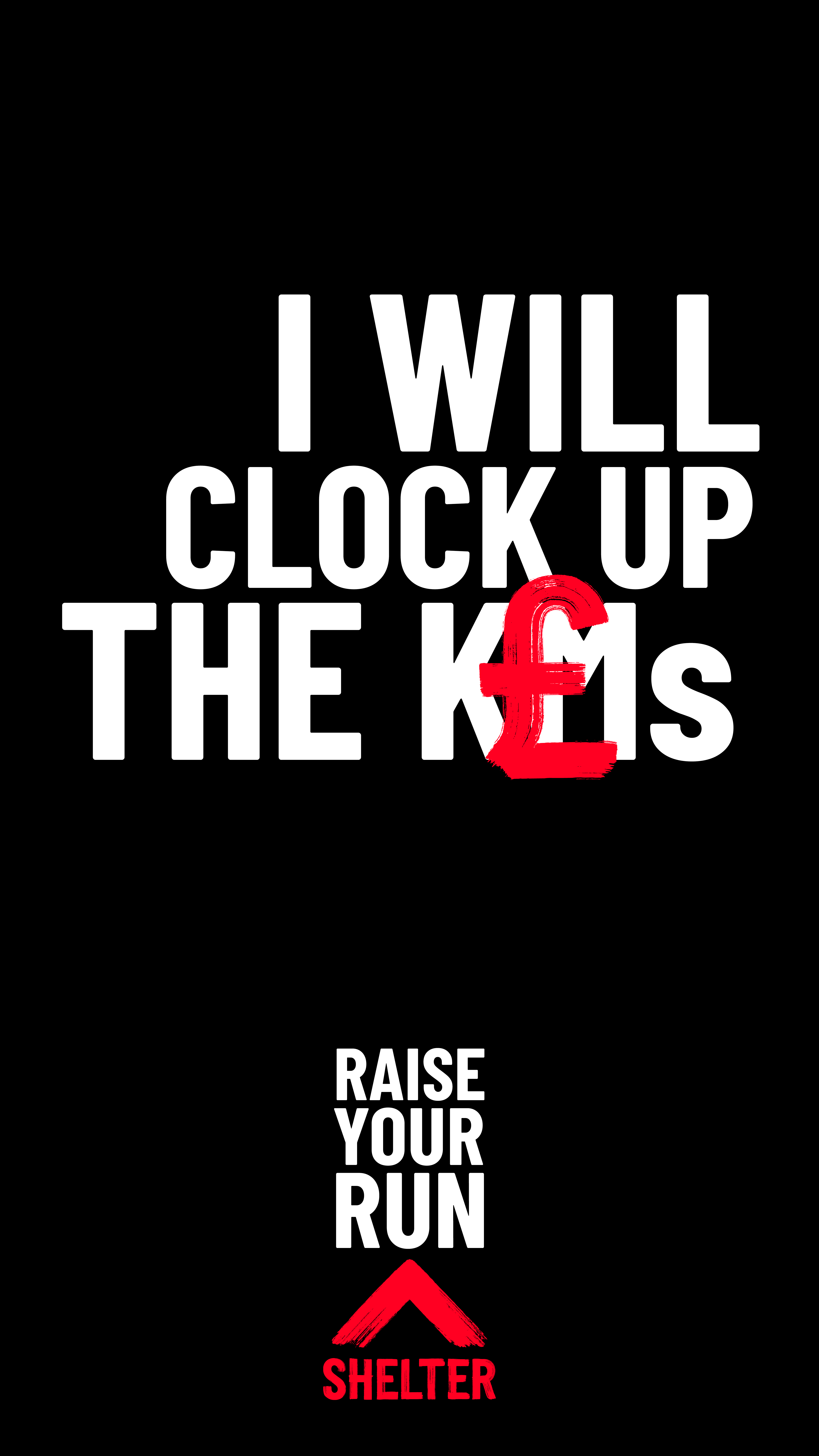 'I will clock up the £s' on black background