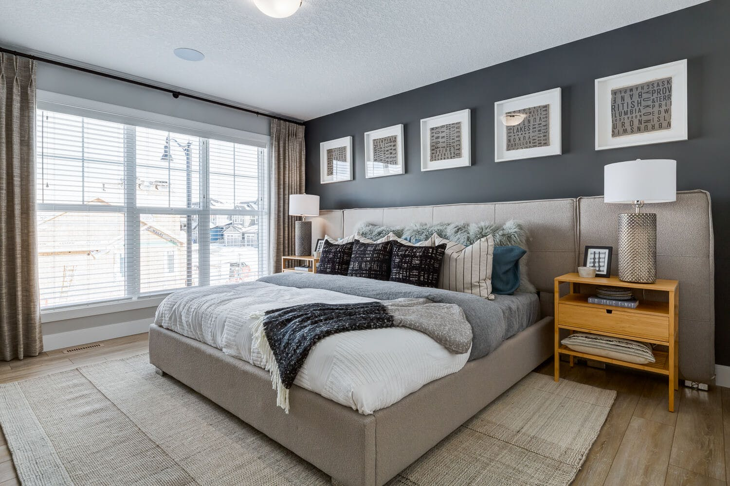A bedroom of a showhome