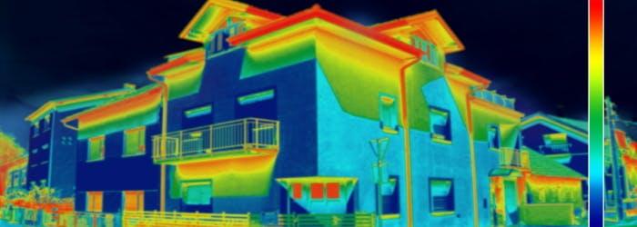 Thermographie d'un bâtiment