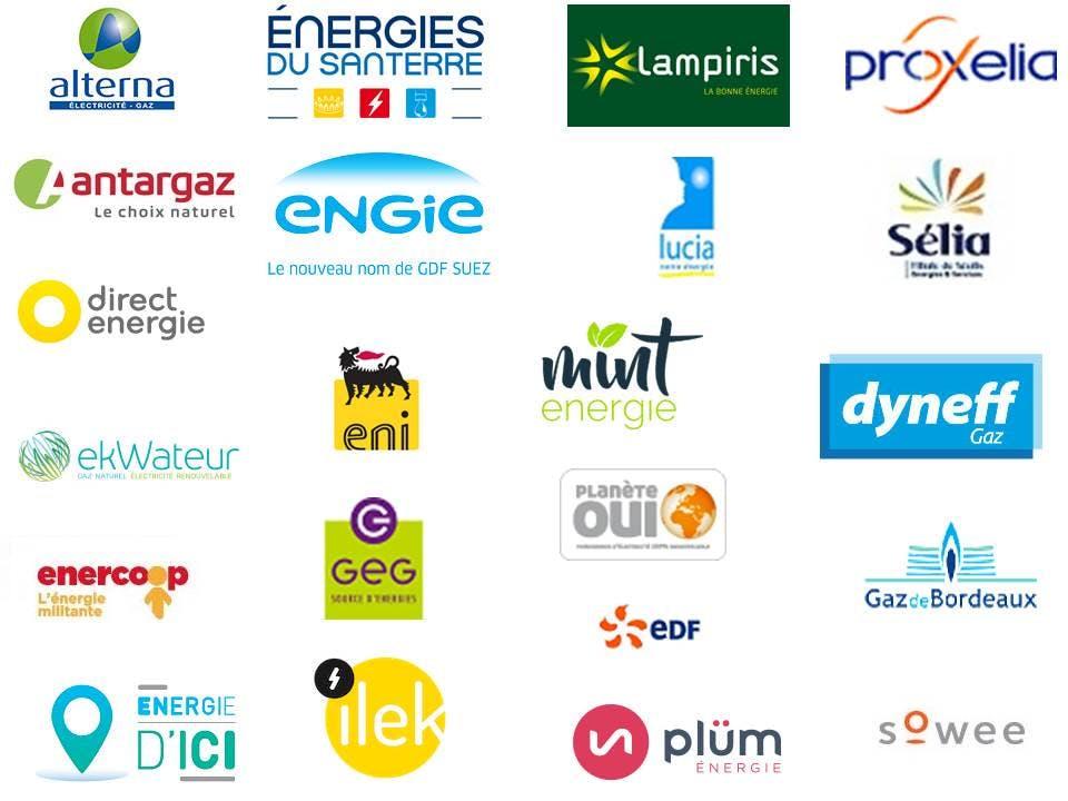 liste de fournisseurs d'énergie