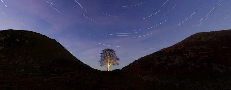 Northumberland UK stargazing spot