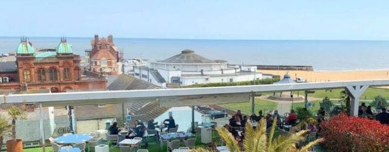 The Cliff Hotel terrace in Great Yarmouth