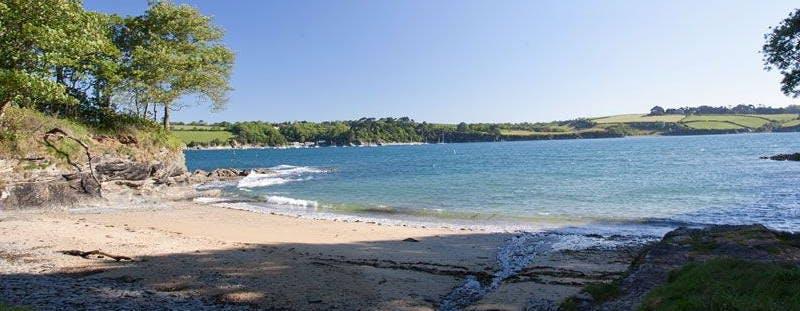 Bosahan Cove beach, Cornwall