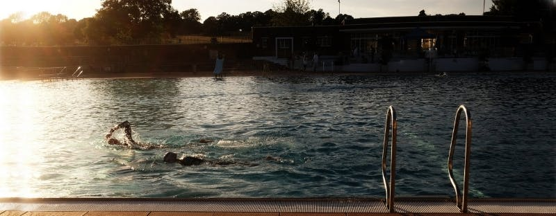 The Lido at Hampstead Heath in London