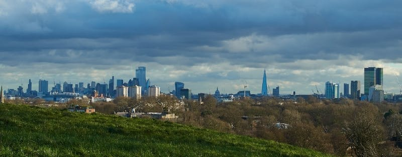 London view from Primrose Hill