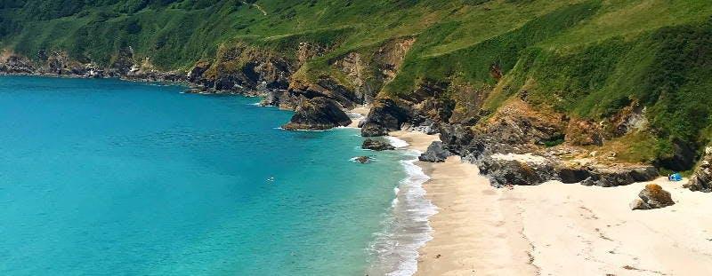 Lantic Bay beach, Cornwall