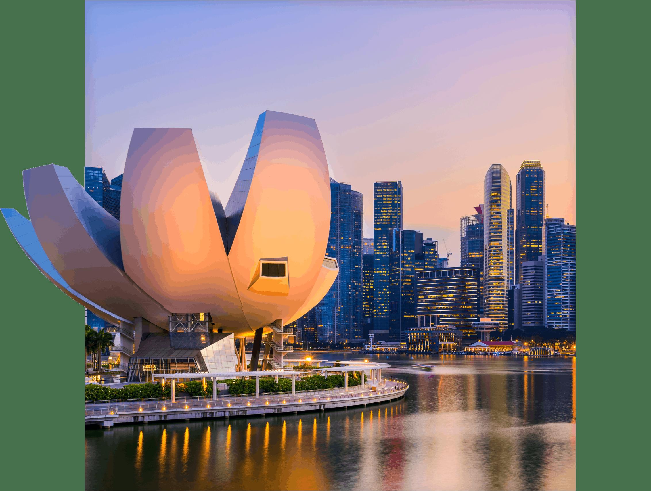 singapore skyline square visual