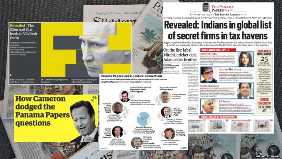 Headlines of the Panama Papers story