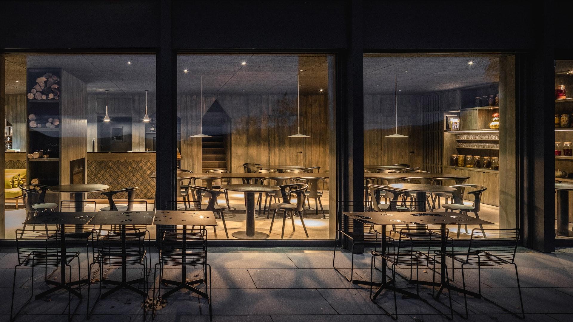 Das Restaurant und seine Terrasse