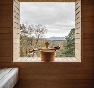 Un sauna dans une hytte
