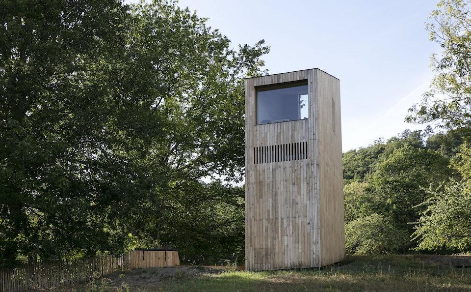 Tre hytte, chambre bois sur 3 étages à l'hôtel 48°Nord à Breitenbach en Alsace