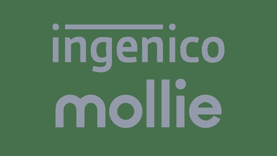 Gray tone logos of Ingenico and Mollie