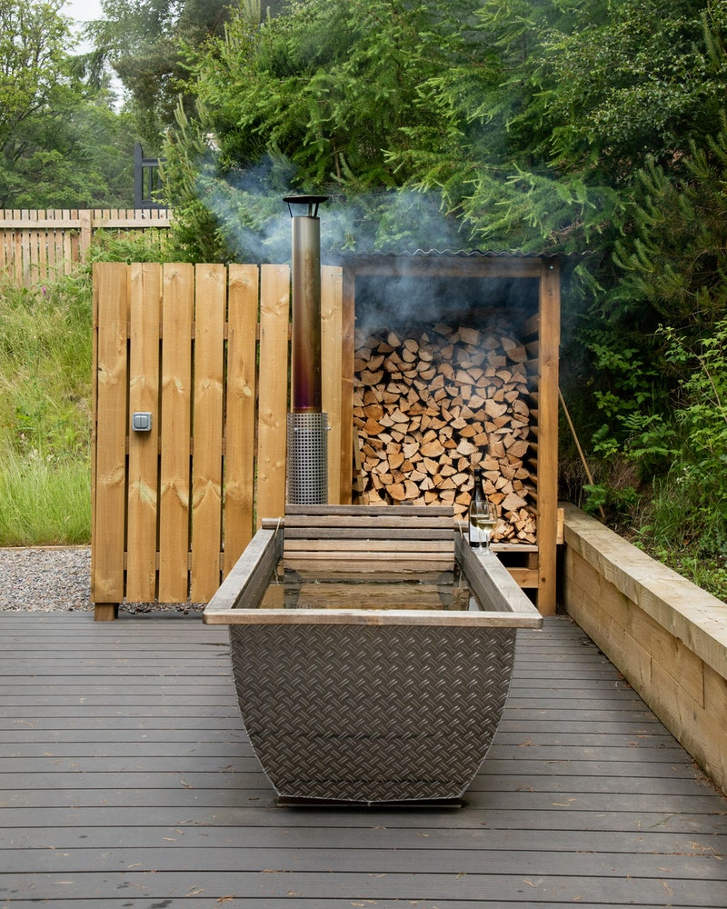 Relax in the Swedish hot tub
