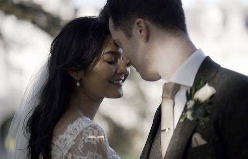 Bride and groom at Honan church