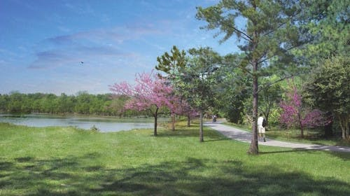The design of the greenway along West Fork.