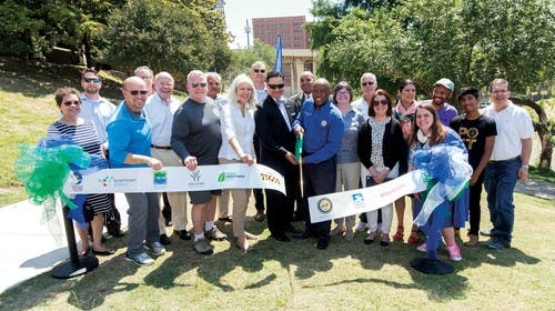 Houston Parks board ribbon cutting