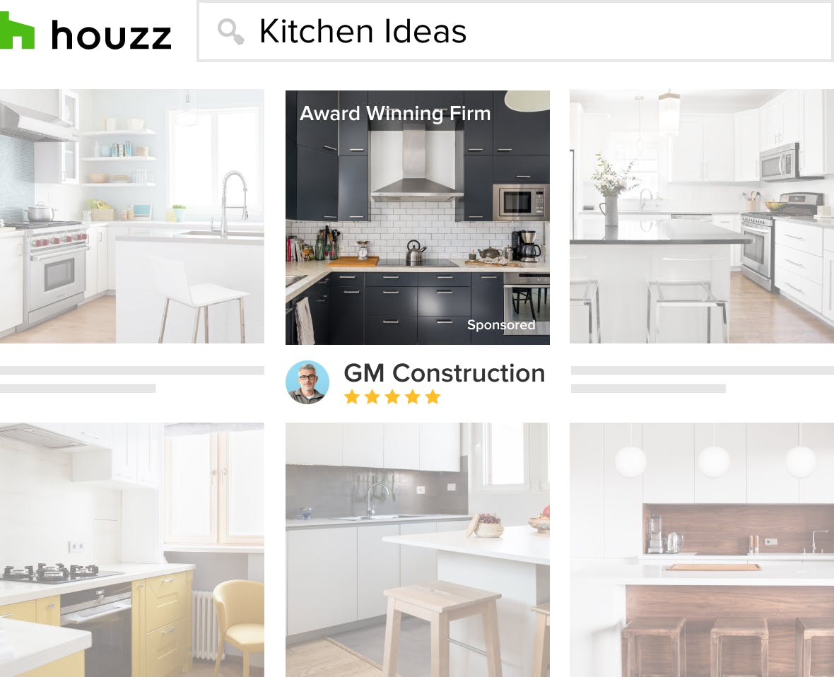 General Contractors upload photos of their work to their Houzz Profile so they can attract hiring homeowners.