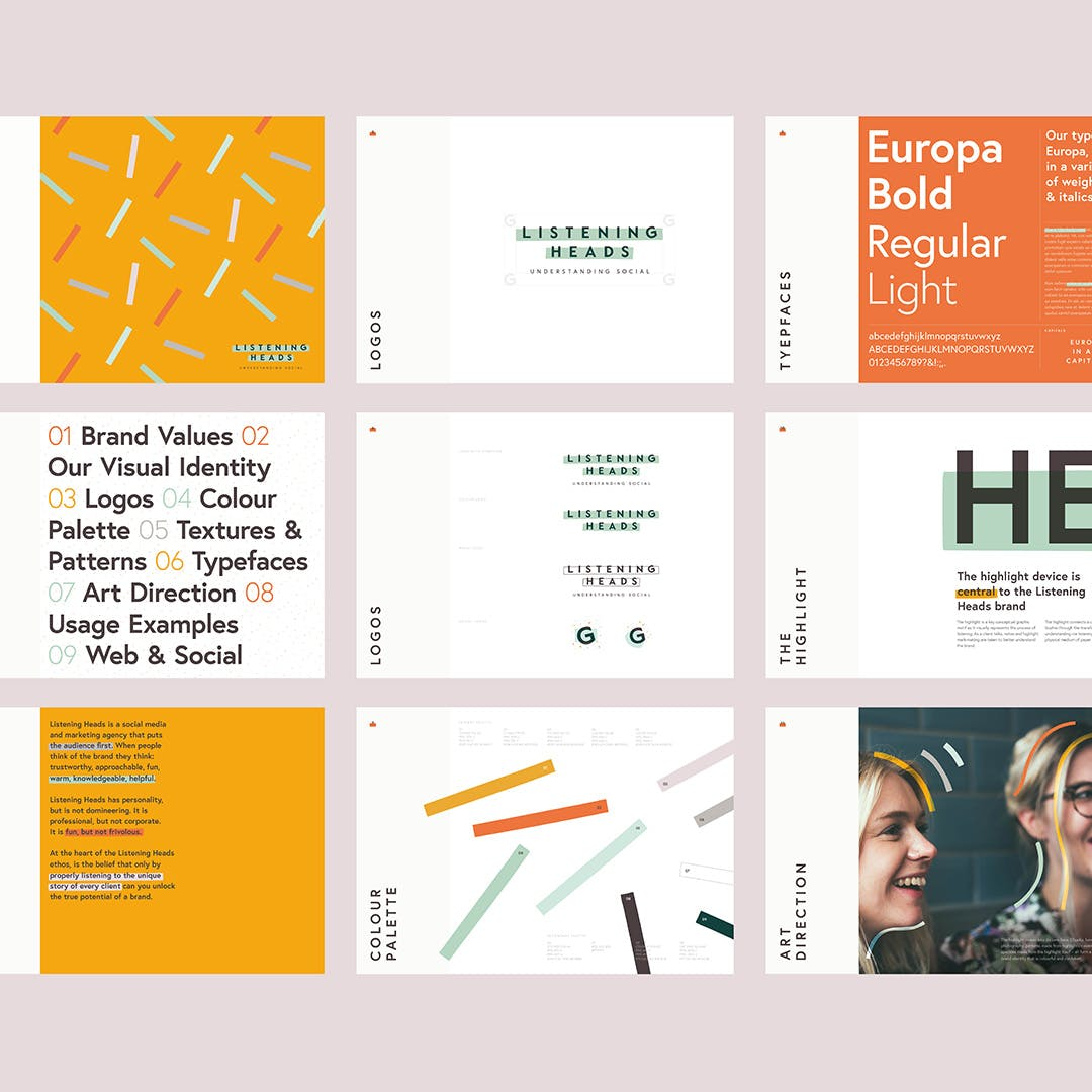 Listening Heads brand guidelines