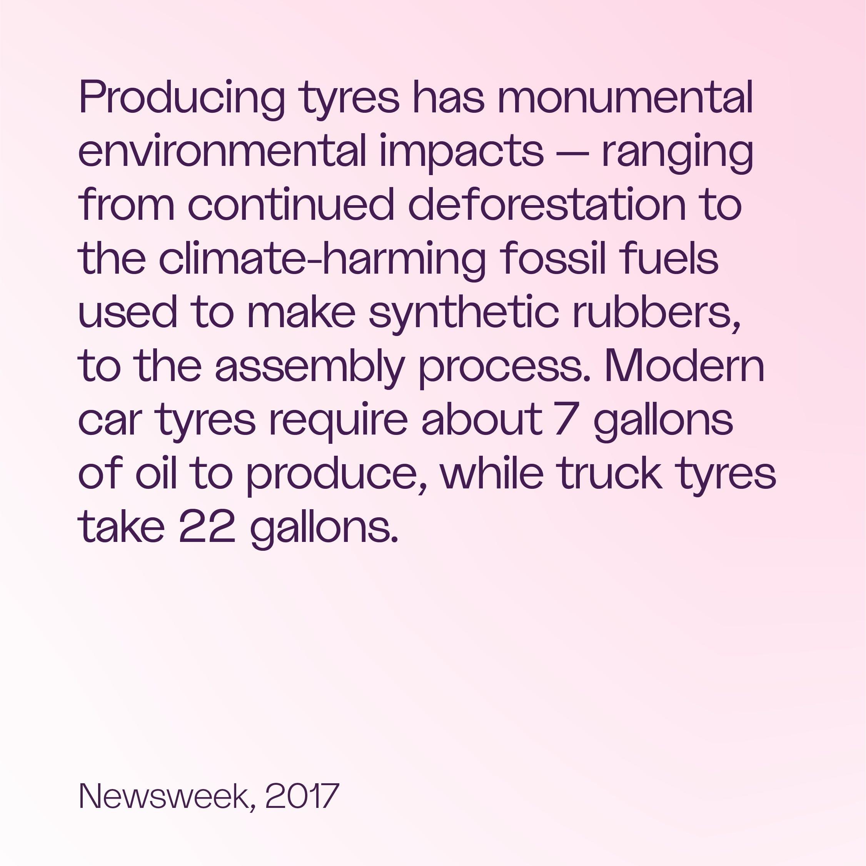 Source: Newsweek via Rubber Manufacturers Association