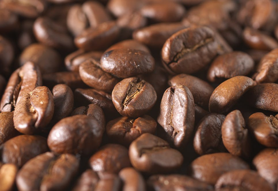 Up Close of Coffee Beans