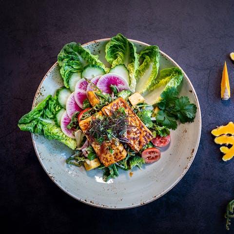 Miso Glazed Tofu Salad