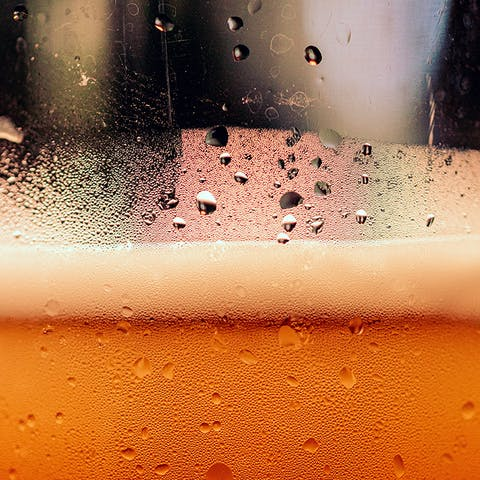 Close Photo of Beer Foam