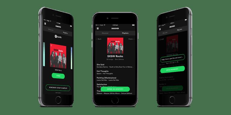 Spotify SXSW App