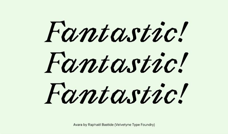Avara font family