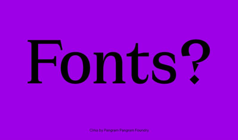 Cirka font family