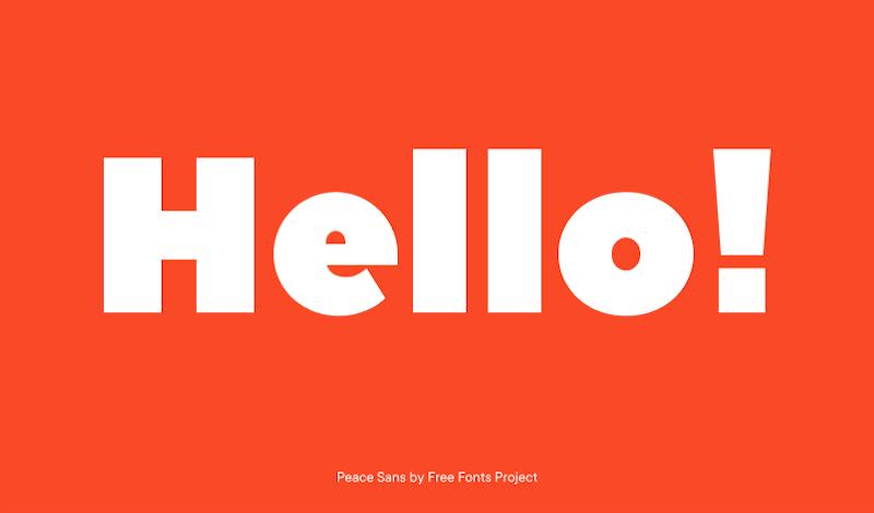 Peace Sans font family