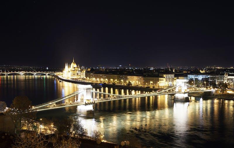Budapest night landscape
