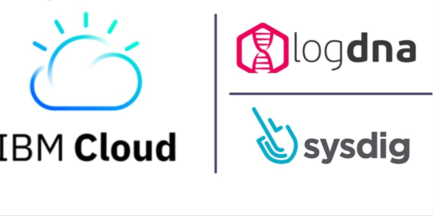 learn about cloud, LogDNA, and Sysdig.