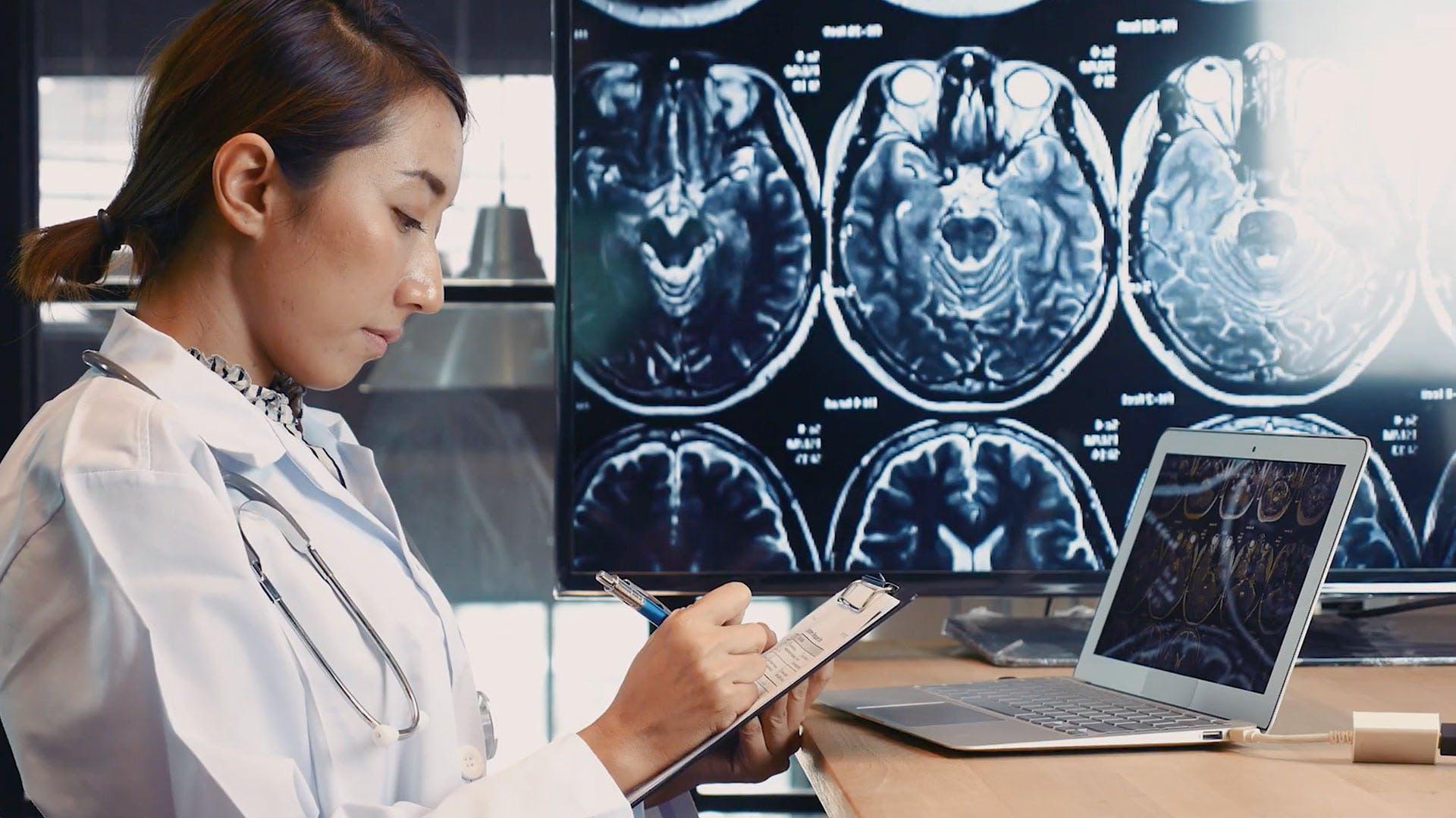 Thumbnail of video for AI predicting Alzheimer's