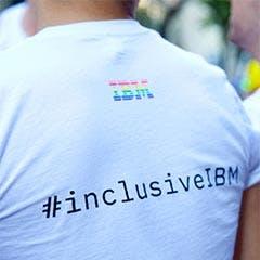 Tshirt with #inclusiveIBM