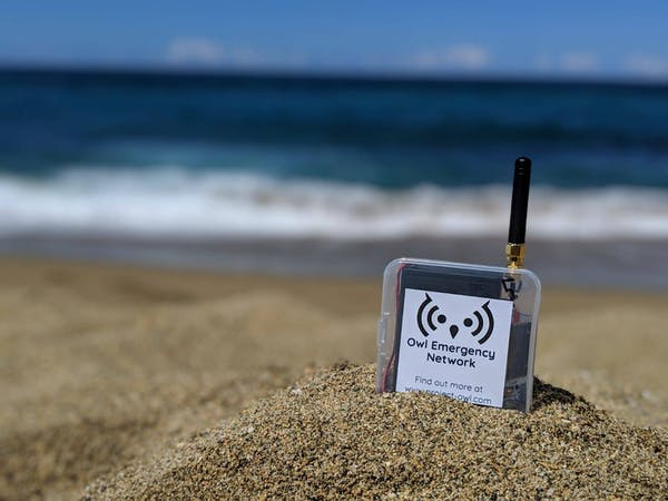 A wifi transmitter in the sand
