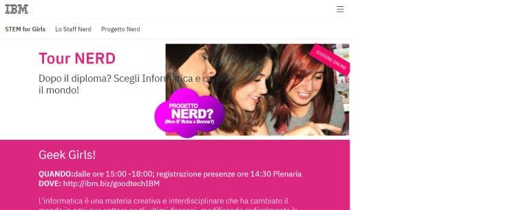 A screenshot of the website for NERD
