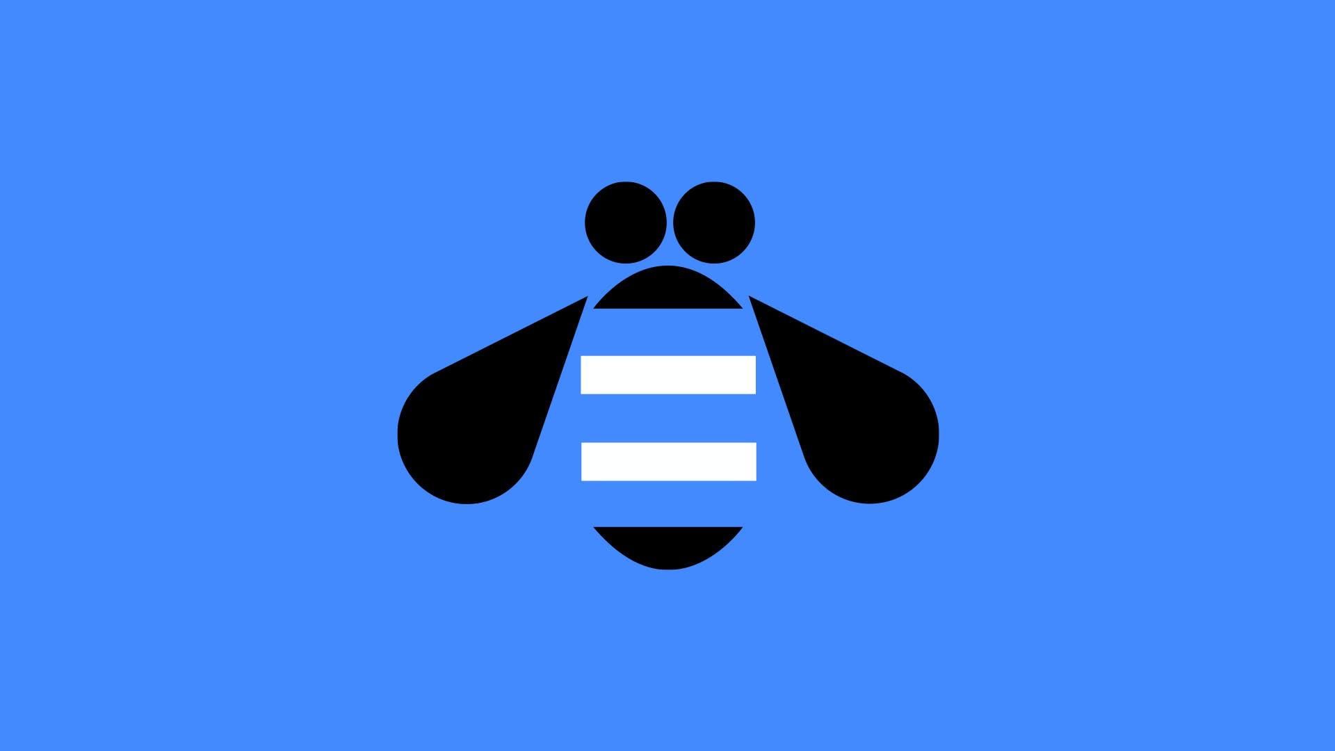 Illustration of the IBM bee logo